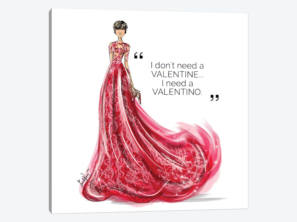 I Need Valentino by Emma Kenny 1-piece Canvas Wall Art