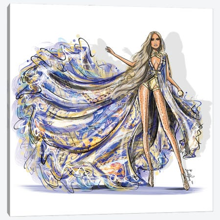 Versace Canvas Print #EKN2} by Emma Kenny Canvas Art