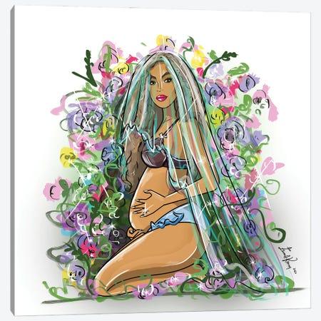 Floral Canvas Print #EKN30} by Emma Kenny Art Print