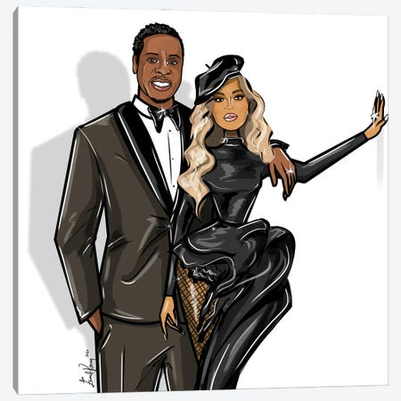 Beyonce And Jay-Z 3-Piece Canvas #EKN38} by Emma Kenny Canvas Art Print