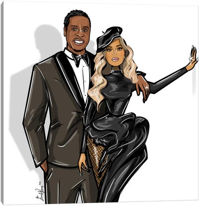 Beyonce And Jay-Z Canvas Art Print