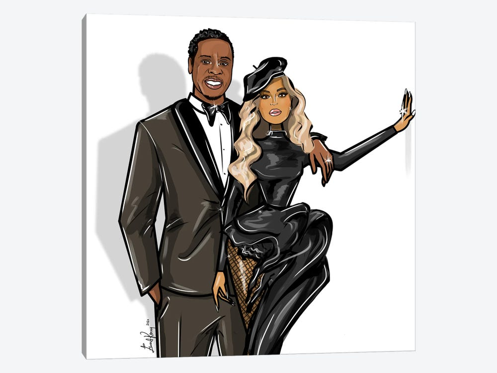 Beyonce And Jay-Z by Emma Kenny 1-piece Canvas Print