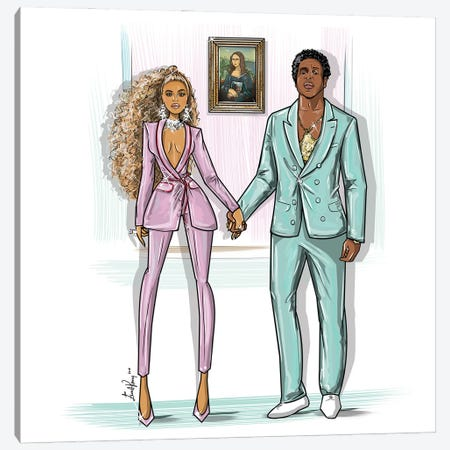 Beyonce And Jay-Z, Love Is Everything 3-Piece Canvas #EKN39} by Emma Kenny Canvas Print
