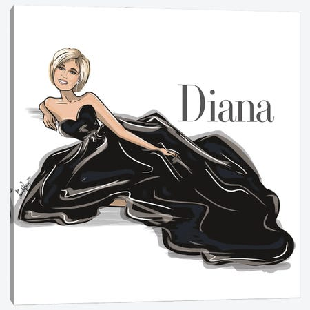 Diana Canvas Print #EKN43} by Emma Kenny Canvas Artwork