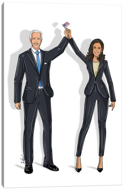 Joe Biden & Kamala Harris Canvas Art Print