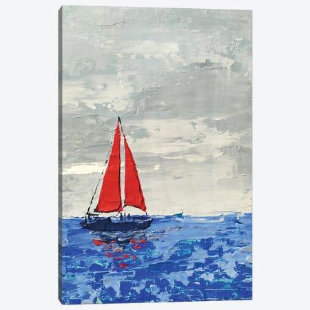 Red Sails Canvas Print #EKP43} by Ekaterina Prisich Canvas Artwork