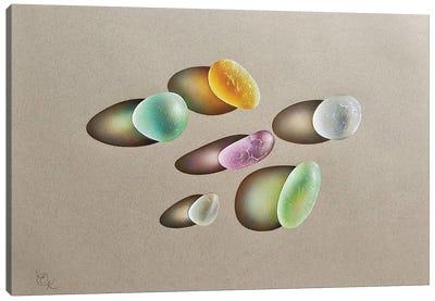 Glowing Seaglass Canvas Art Print