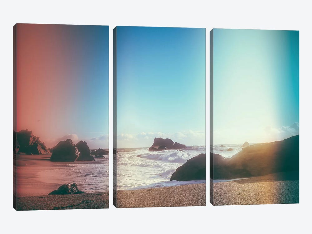 California Coastline Sunshine 3-piece Canvas Wall Art