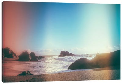 California Coastline Sunshine Canvas Art Print