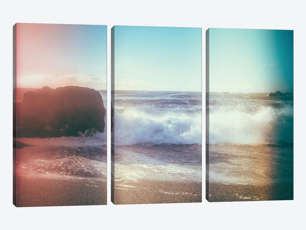 California Sunshine Waves by Elena Kulikova 3-piece Canvas Art