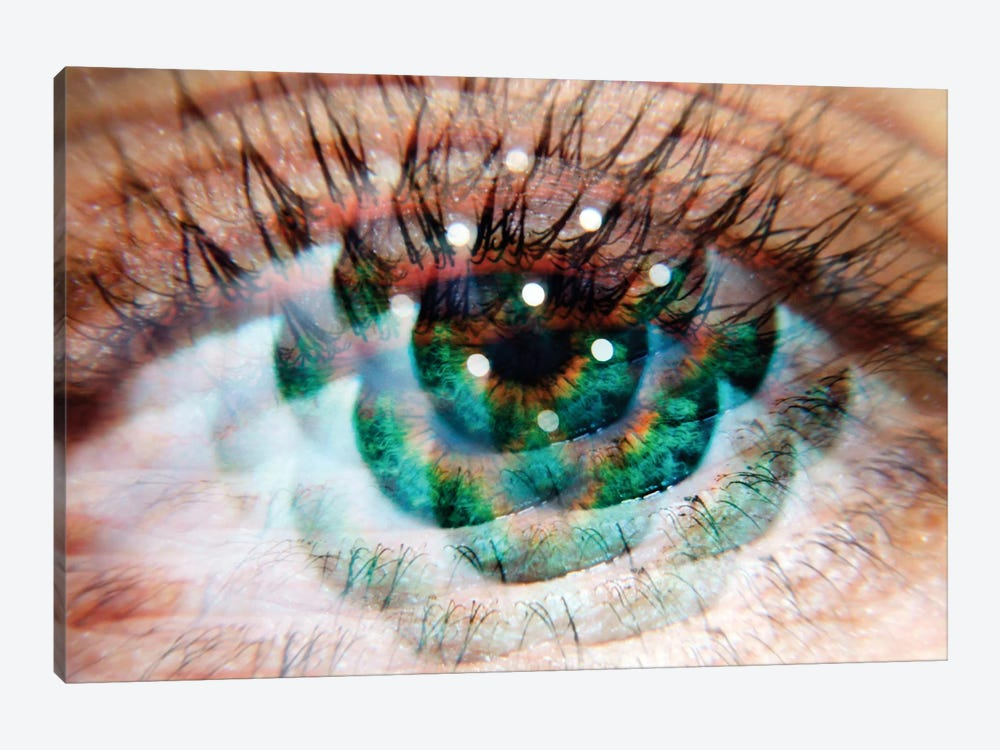 Eye Am Green by Elena Kulikova 1-piece Canvas Print