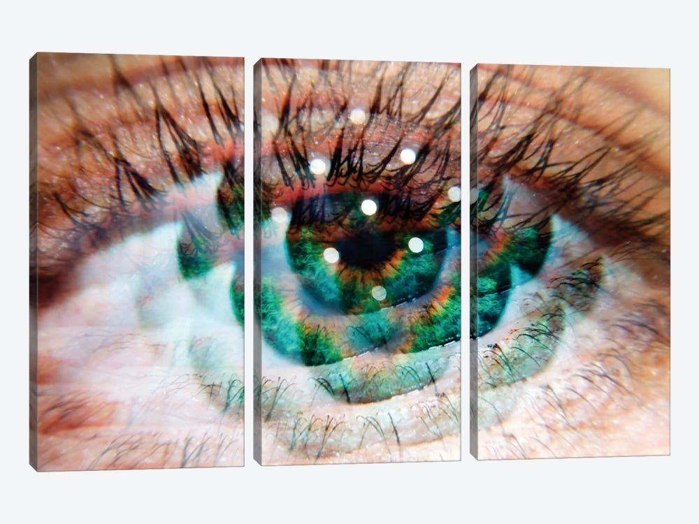 Eye Am Green by Elena Kulikova 3-piece Art Print