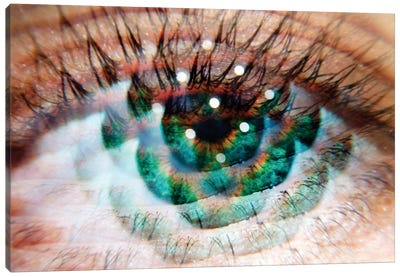 Eye Am Green Canvas Art Print
