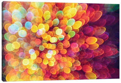 Ligth And Shimmer Burst Canvas Art Print