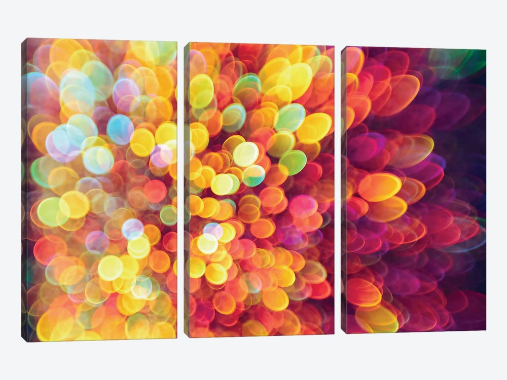 Ligth And Shimmer Burst by Elena Kulikova 3-piece Canvas Artwork