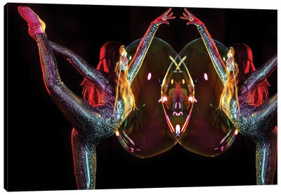 Metallic Rainbow Dancer Mirrored Canvas Art Print