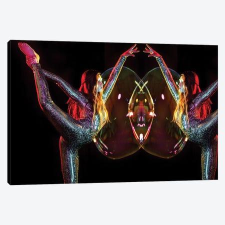 Metallic Rainbow Dancer Mirrored Canvas Print #EKU49} by Elena Kulikova Canvas Print