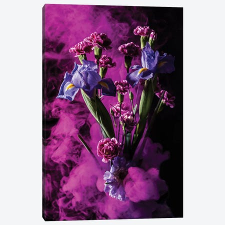Smoky Bouquet Canvas Print #EKU68} by Elena Kulikova Canvas Art Print