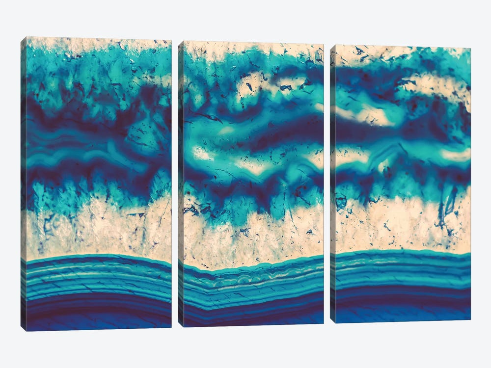 Water Element by Elena Kulikova 3-piece Canvas Wall Art