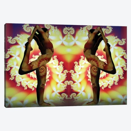 Yogi Fractal Canvas Print #EKU84} by Elena Kulikova Canvas Wall Art