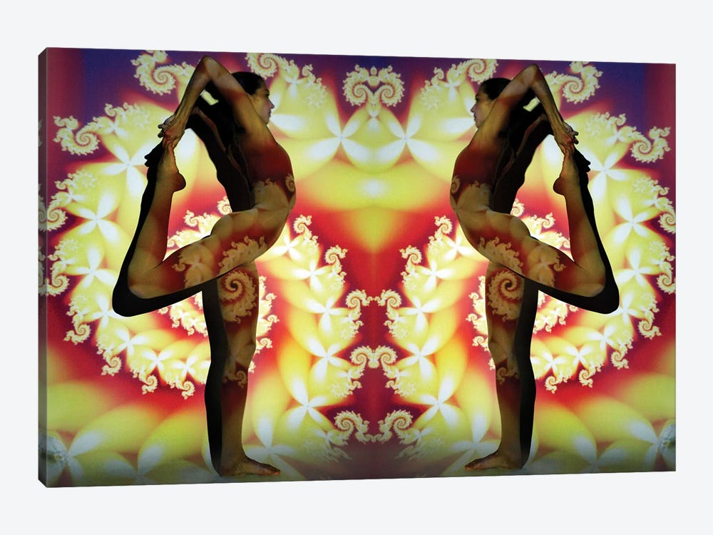 Yogi Fractal by Elena Kulikova 1-piece Canvas Wall Art