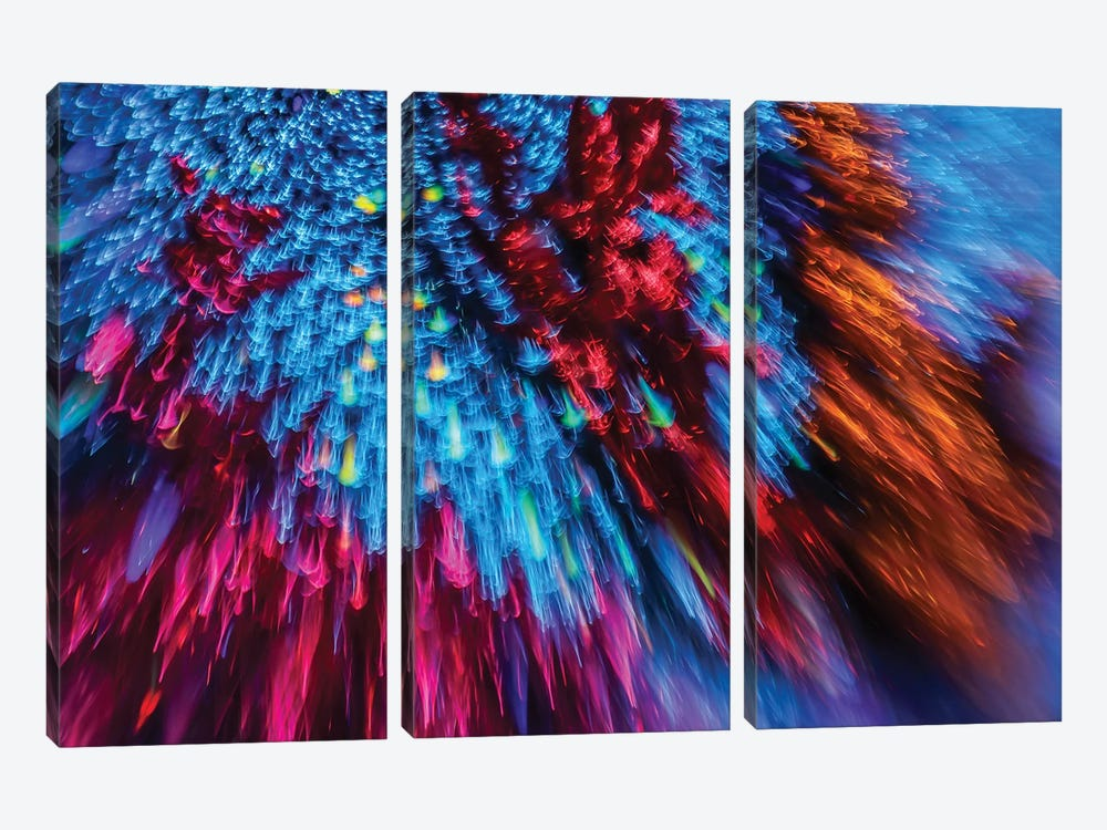 Stardust Refractions by Elena Kulikova 3-piece Canvas Wall Art