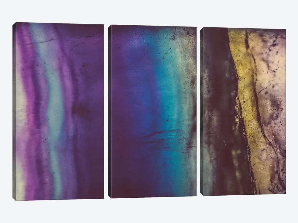 Blue Violet Fluorite by Elena Kulikova 3-piece Canvas Artwork