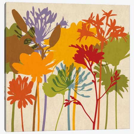 Colorful Bloom II Canvas Print #ELA13} by Erin Lange Art Print