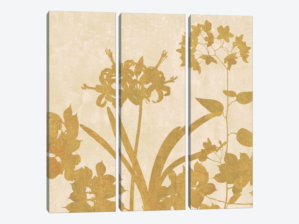 Golden Reflections II by Erin Lange 3-piece Canvas Wall Art