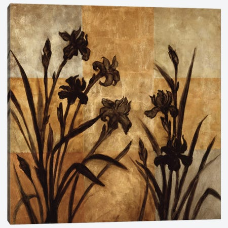 Iris Silhouette I Canvas Print #ELA43} by Erin Lange Canvas Wall Art