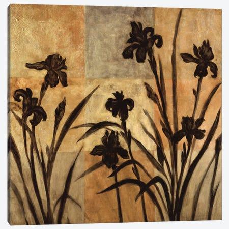 Iris Silhouette II Canvas Print #ELA44} by Erin Lange Art Print