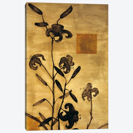 Lily Silhouette I Canvas Print #ELA48} by Erin Lange Canvas Wall Art