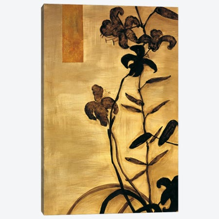 Lily Silhouette II Canvas Print #ELA49} by Erin Lange Canvas Art