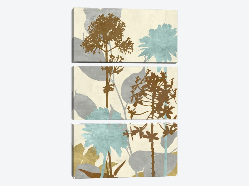 Peaceful Garden II by Erin Lange 3-piece Canvas Wall Art