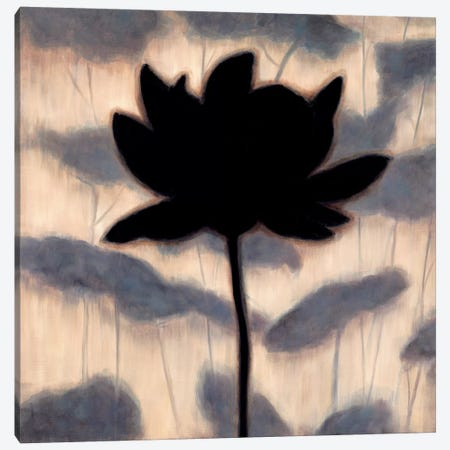 Blossom Silhouette I Canvas Print #ELA5} by Erin Lange Art Print