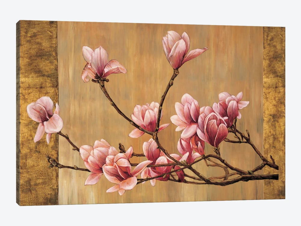Pink Magnolias by Erin Lange 1-piece Canvas Artwork