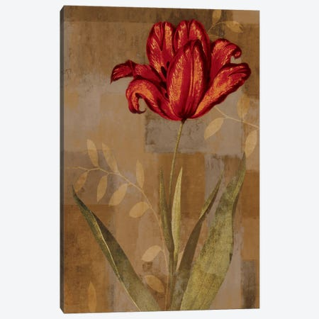 Red Impression I Canvas Print #ELA62} by Erin Lange Canvas Wall Art