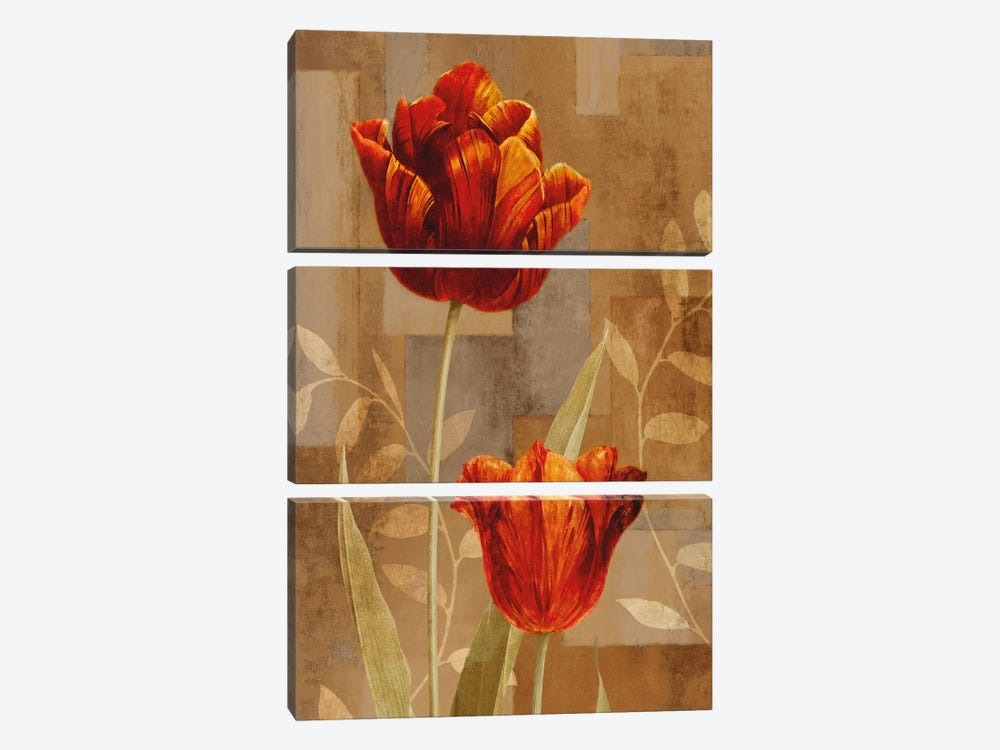 Red Impression II by Erin Lange 3-piece Canvas Print