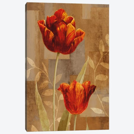 Red Impression II Canvas Print #ELA63} by Erin Lange Canvas Artwork