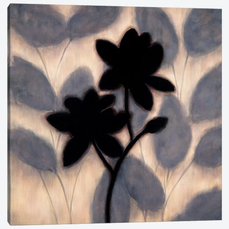 Blossom Silhouette II 3-Piece Canvas #ELA6} by Erin Lange Canvas Print