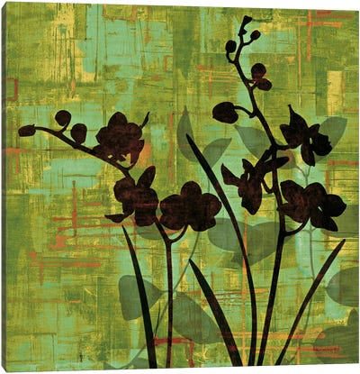 Silhouette On Green Canvas Art Print