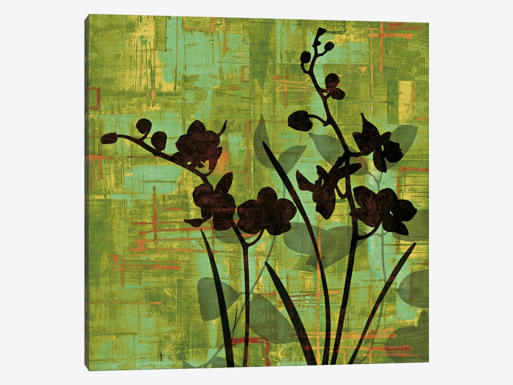 Silhouette On Green by Erin Lange 1-piece Canvas Print