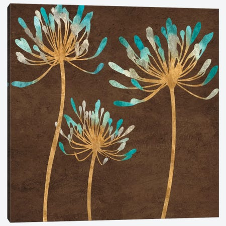 Teal Bloom I Canvas Print #ELA72} by Erin Lange Canvas Print