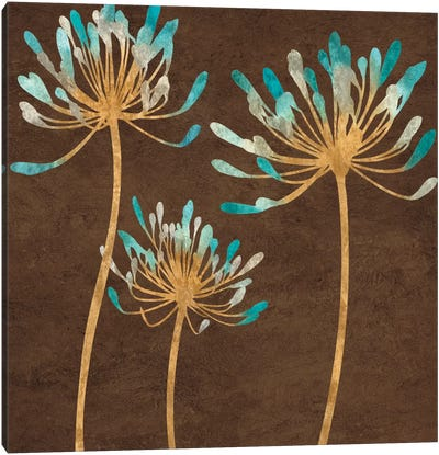 Teal Bloom I Canvas Print #ELA72