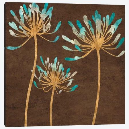 Teal Bloom I Canvas Print #ELA72} by Erin Lange Canvas Print