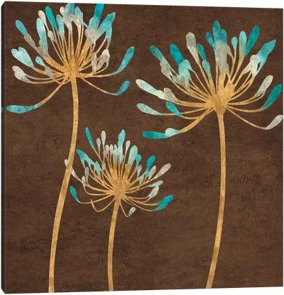 Teal Bloom I Canvas Art Print
