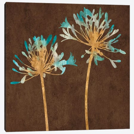Teal Bloom II Canvas Print #ELA73} by Erin Lange Art Print