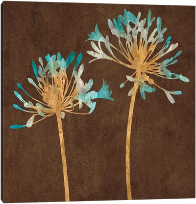 Teal Bloom II Canvas Print #ELA73