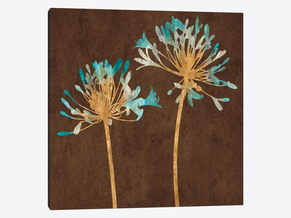 Teal Bloom II by Erin Lange 1-piece Canvas Wall Art