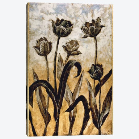 Tulip Silhouette Canvas Print #ELA74} by Erin Lange Canvas Wall Art